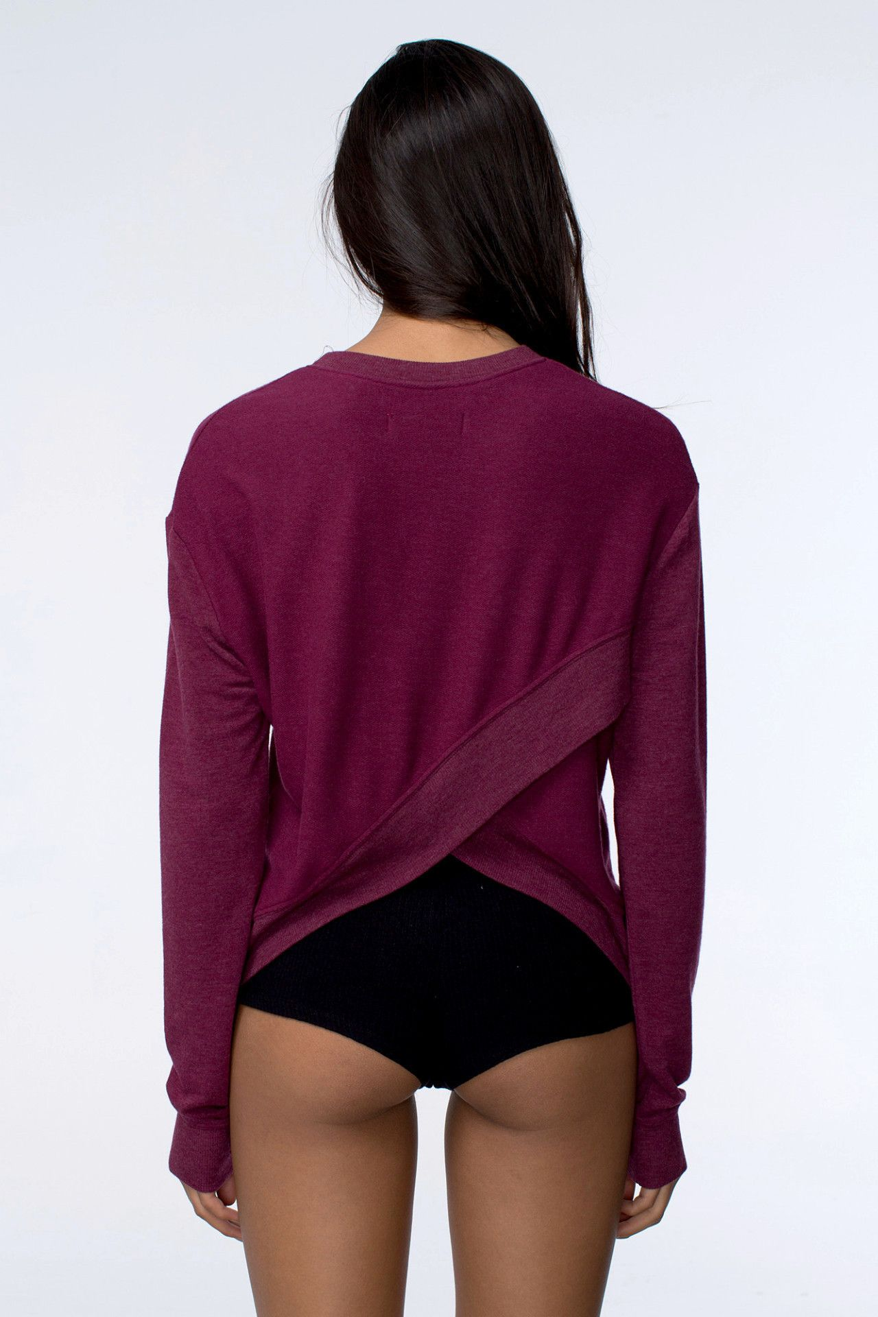 Tulip Back Pullover Currant  Spiritual Gangster    style