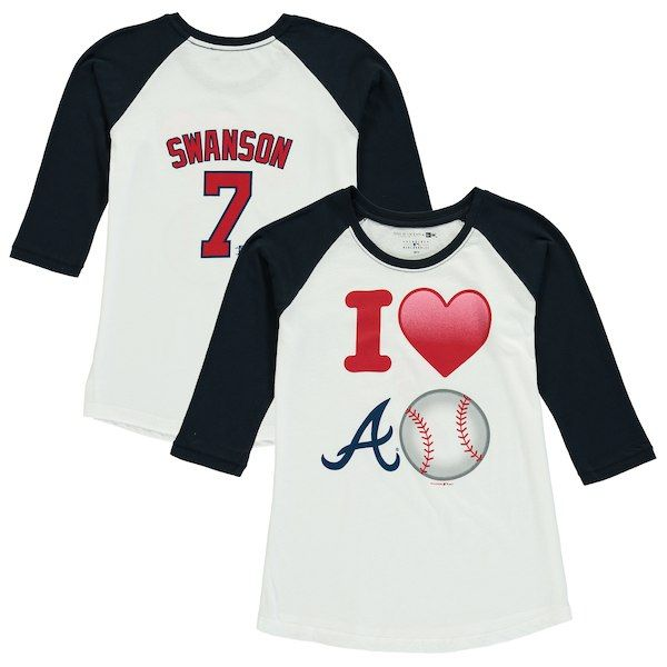 best cheap 124a0 3e856 Dansby Swanson Atlanta Braves 5th & Ocean by New Era Girls ...