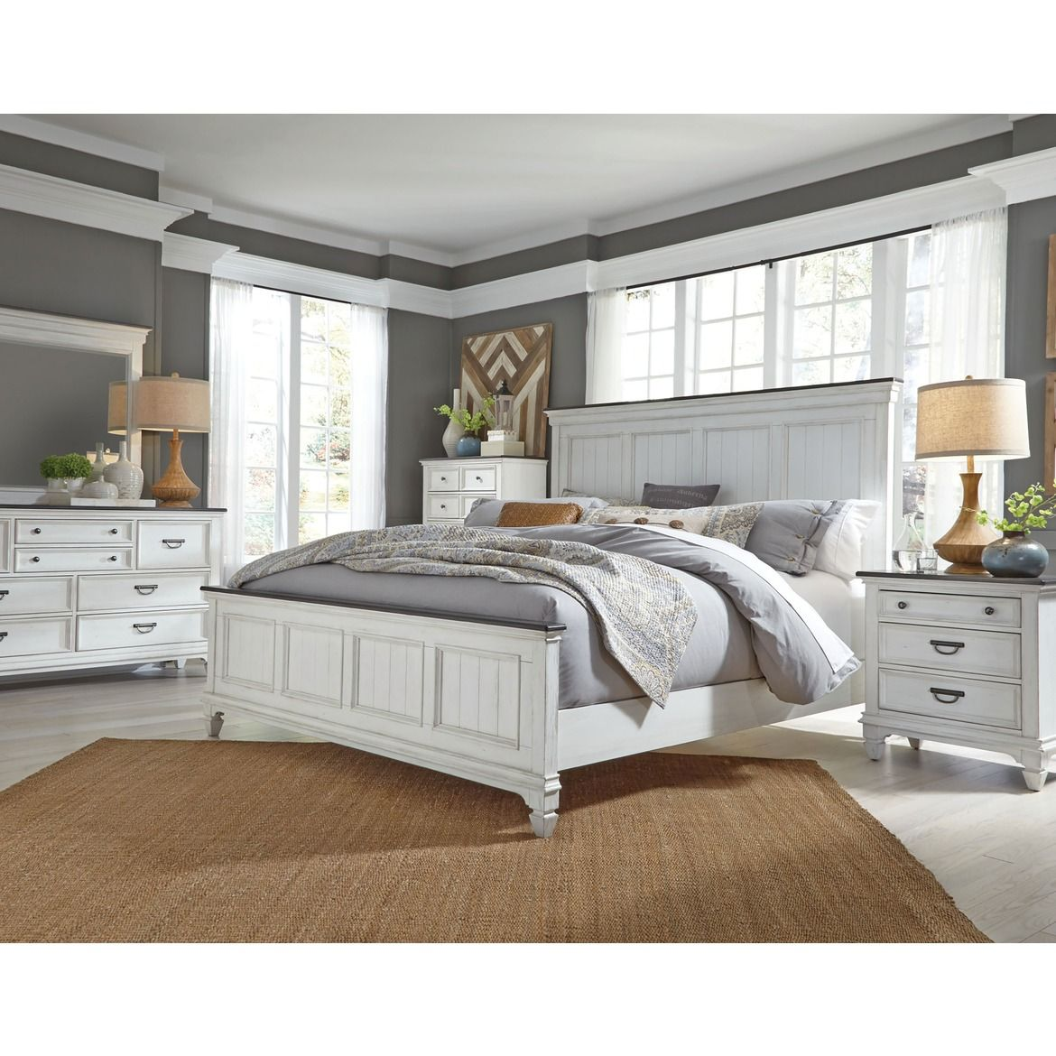 Finley 4pc Queen Bedroom #palletbedroomfurniture