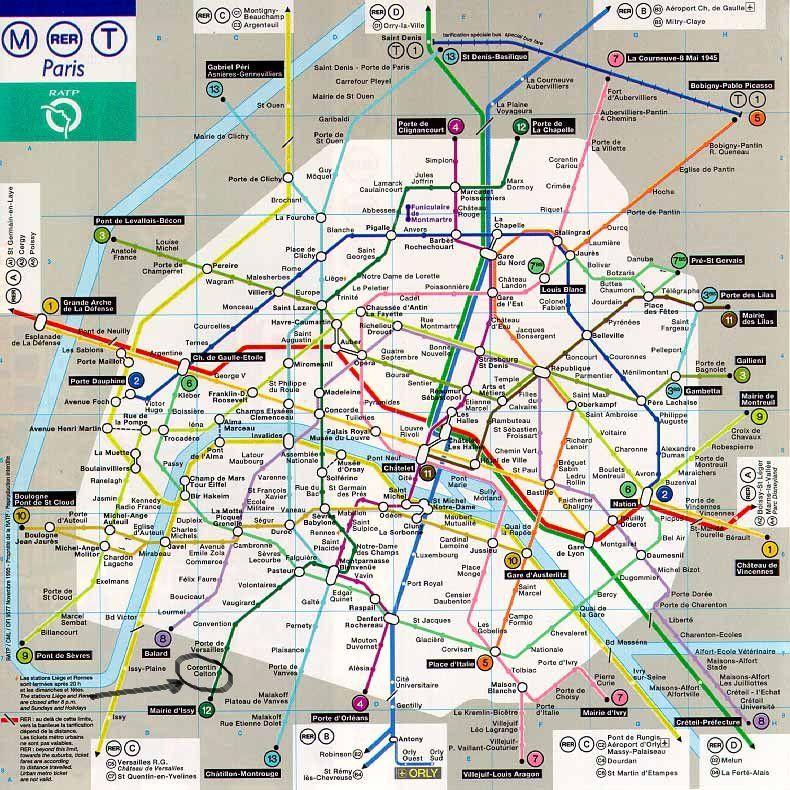 Parismetromap 790�790 Pixels Infographic Pinterest: Paris Metro Train Map At Infoasik.co