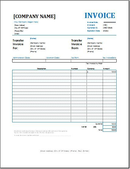 Account Transfer Invoice DOWNLOAD At Http://www.bizworksheets.com/invoice  Money Transfer Receipt Template