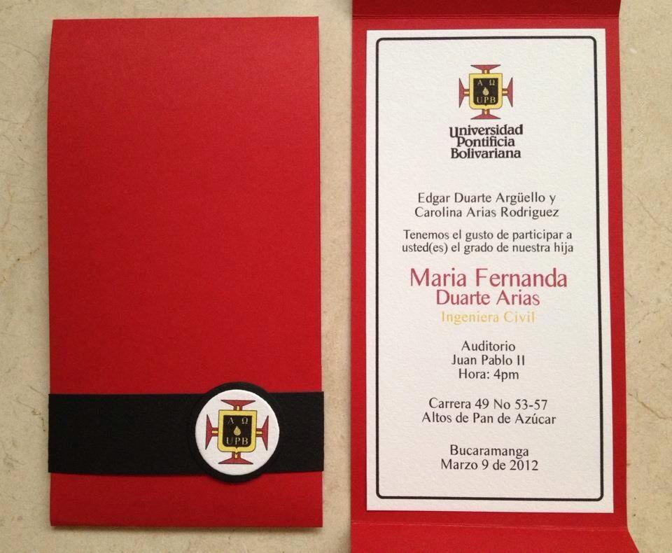 tarjetas de graduacion universidad xv-gimnazija