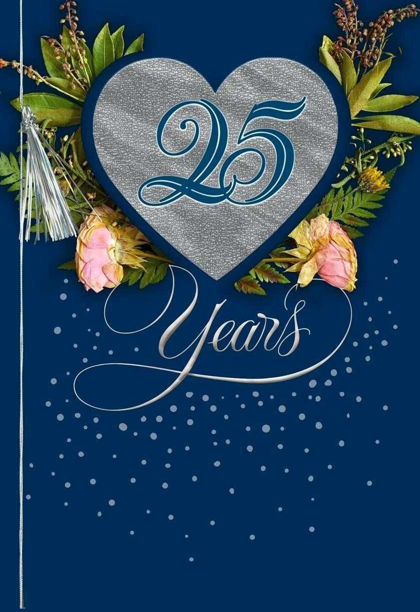 10 Year Anniversary Card Lovely 25th Anniversary Cards Silver Greeting Card Personali Anniversary Cards For Wife Anniversary Cards Anniversary Card For Parents
