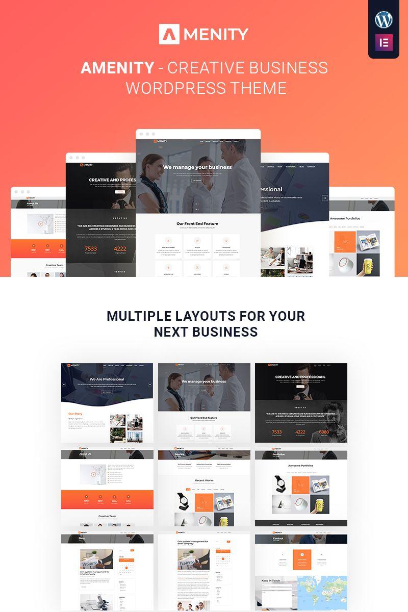 Amenity Business One Page Wordpress Theme 68145 Business Wordpress Themes Wordpress Theme Web Business