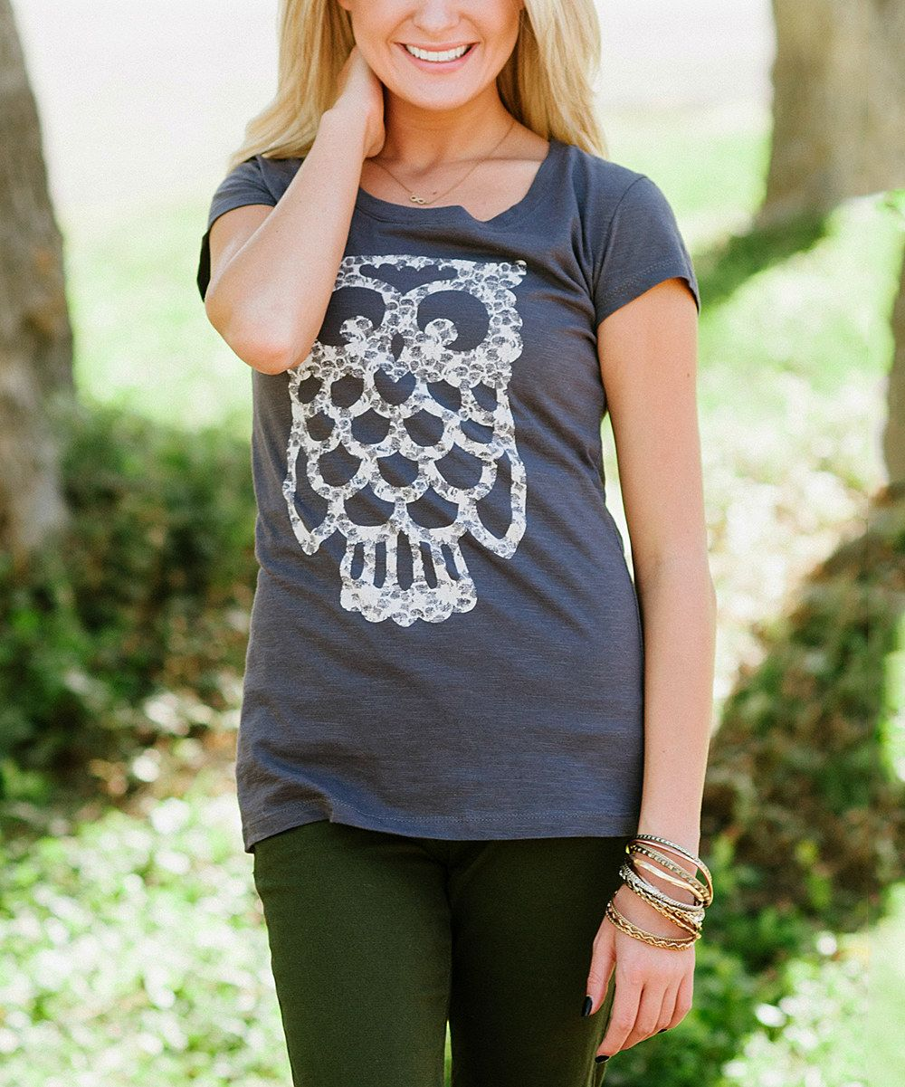 Look at this Gray Owl Tee on #zulily today!