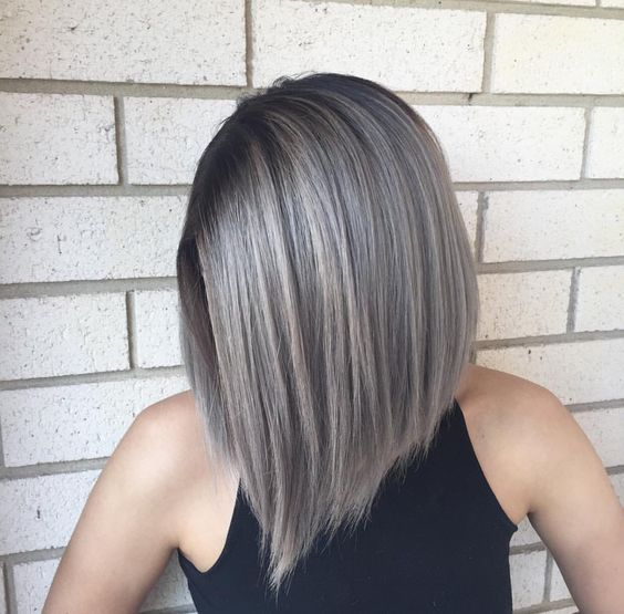 34 Trendy Silver/Gray Hairstyle Ideas for 2019 -   10 hair Gray faces ideas