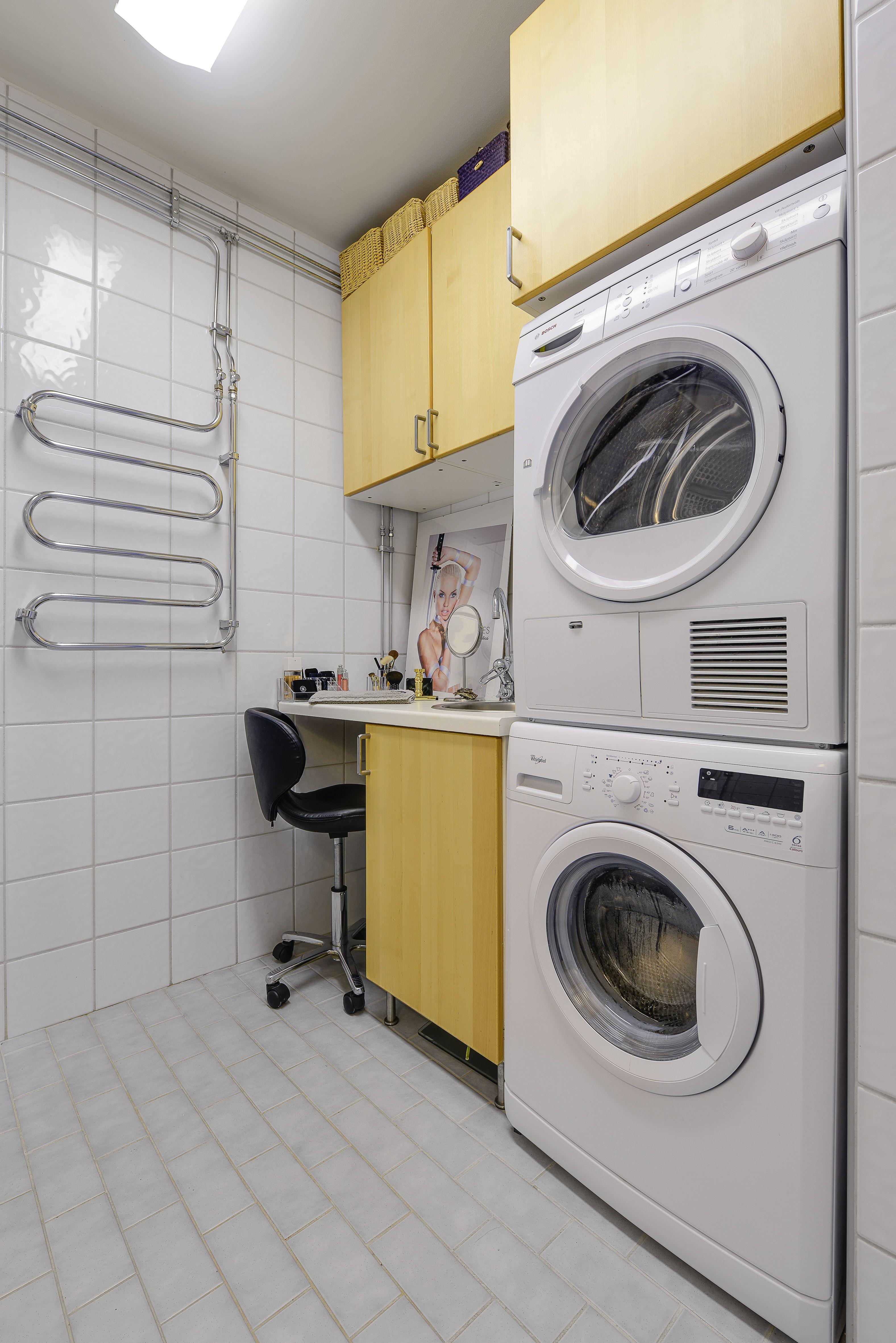 Smart sminkhörna i tvättstugan