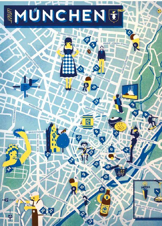 Jon Frickey - Map of Munich / Munchen
