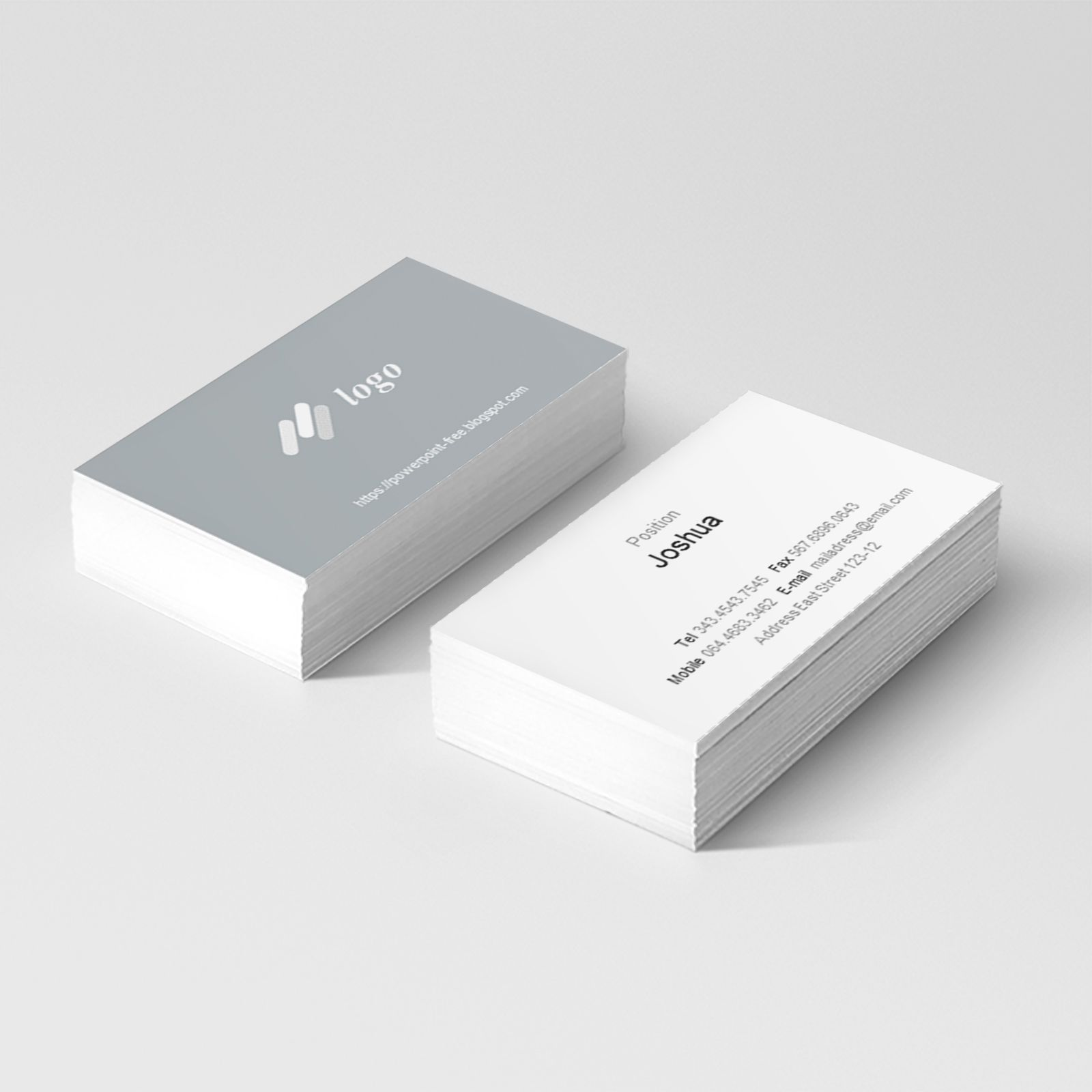 Basic Business Card Powerpoint Templates Powerpoint Free In Business Card Template Powerpoint Powerpoint Template Free Powerpoint Free Business Card Template