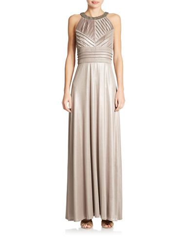 Brands Formalevening Textured Gown Lord And Taylor Dresses