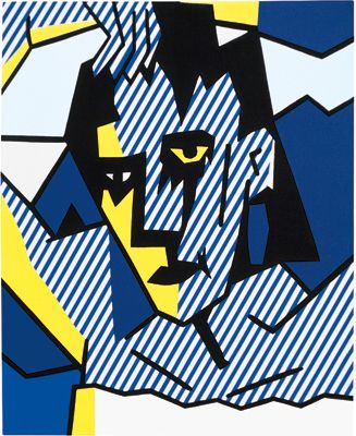Blue Head -  Image-DuplicatorBlue Head, 1979 - Roy Lichtenstein - Oil and Ma gna on canvas,36 x 30 inches, 91.4 x 76.2 cm