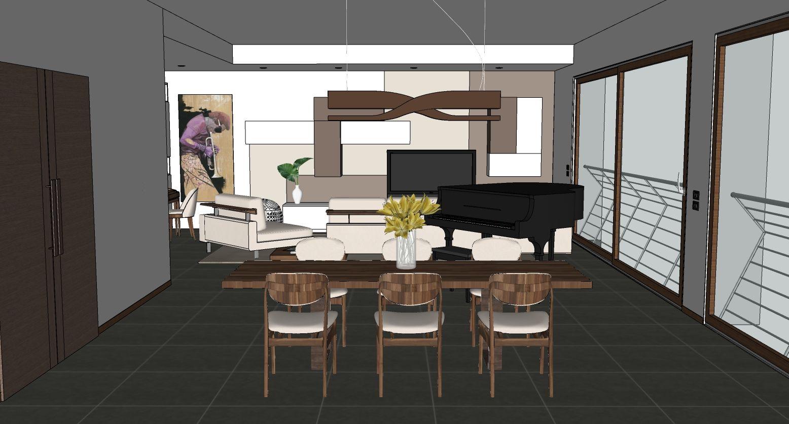 Photo of Progetto di soggiorno, vista dalla sala da pranzo – diotti.com