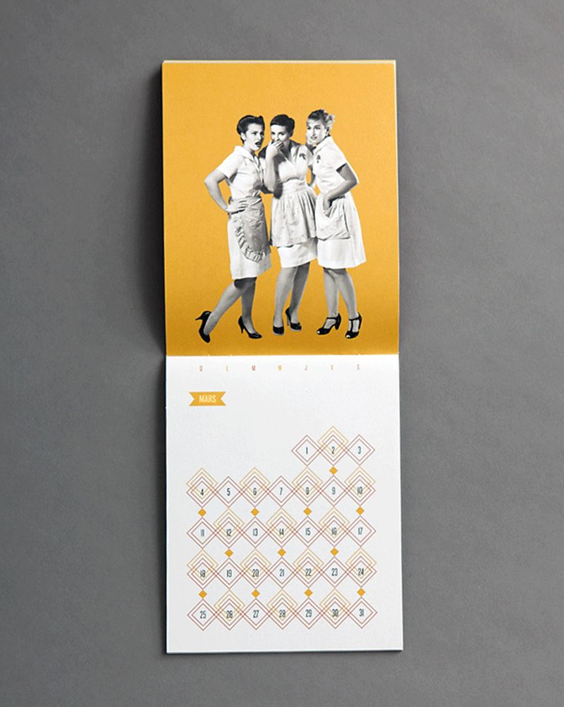 nicely done! promotional calendar for a neighborhood french