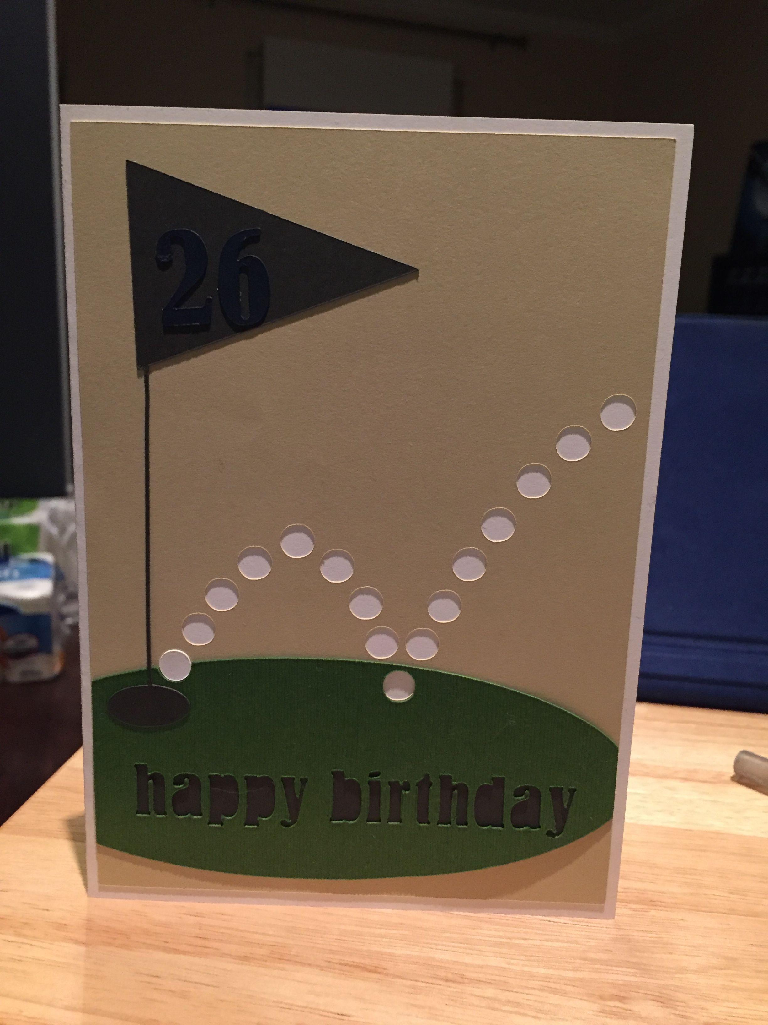 Golf Birthday Card Diy Homemade Birthday Cards Golf Birthday Cards Birthday Cards For Men