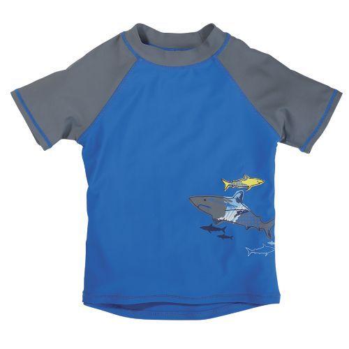 0ed6e84e4f Sun Smarties Boys UV Short Sleeve Shark Rash Guard from One Step Ahead    2Q715949