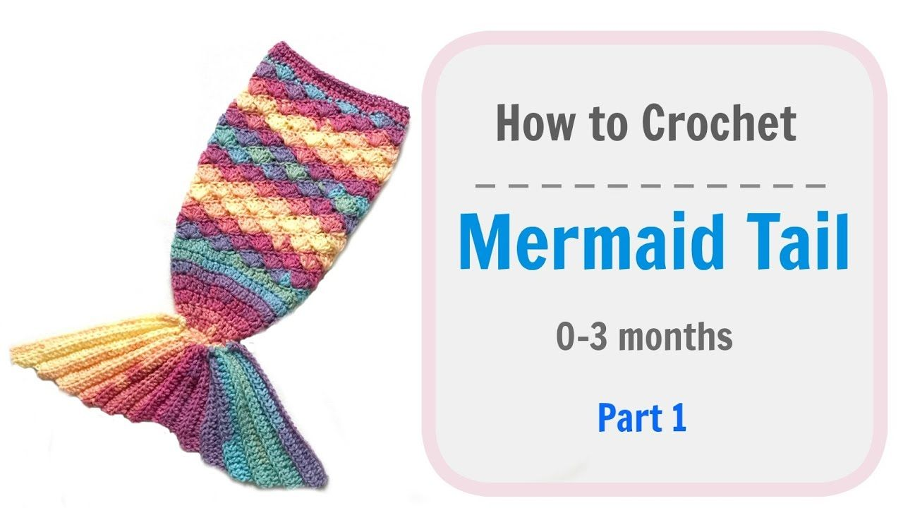 How to Crochet baby Mermaid Tail - Part 1 | love crocheting ...