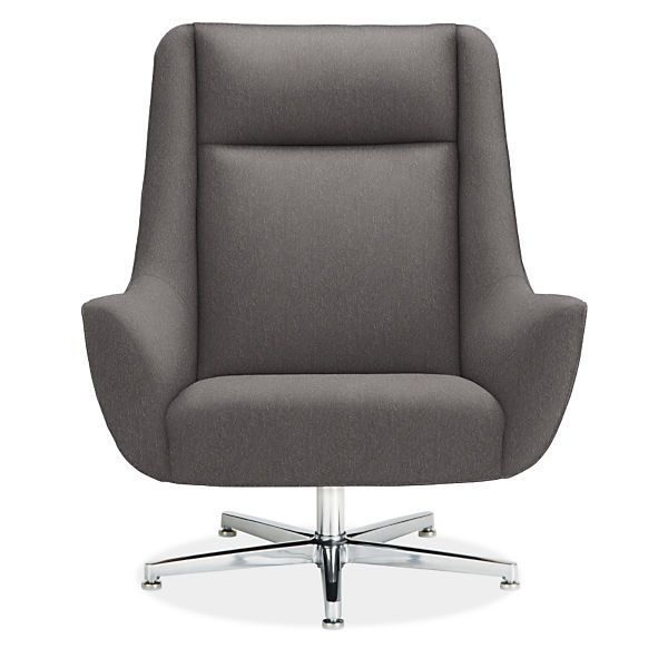 Charles Swivel Chair Ottoman With Aluminum Base My House