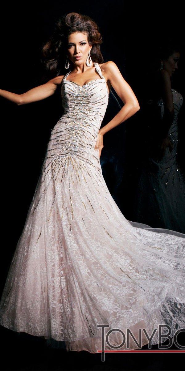 TONY BOWLS EVENINGS INFORMAL BRIDAL DRESS (TBE11306)   White ...