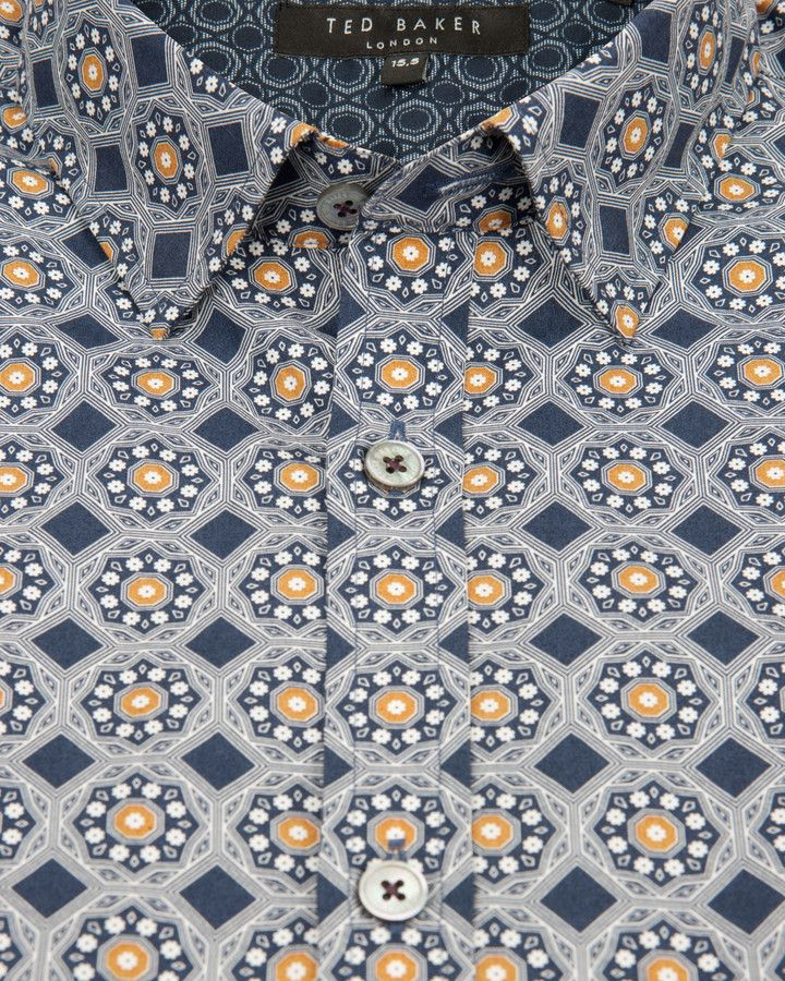 43bc4d6f6b9 Ted Baker GABEZ Octagon printed shirt on shopstyle.co.uk