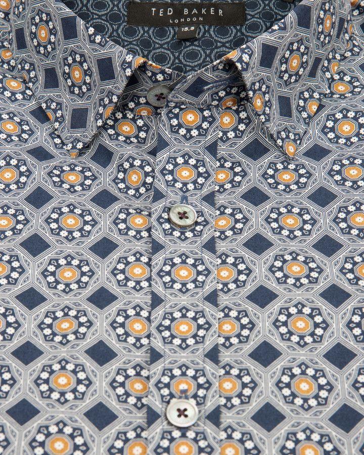 62bb8c855467 Ted Baker GABEZ Octagon printed shirt on shopstyle.co.uk