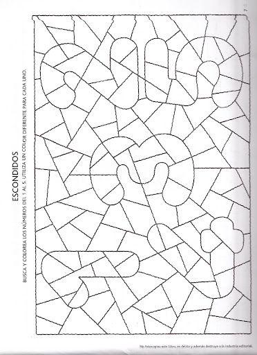 Kleurplaat cijfers | Precalcolo insiemistica e numeri | Pinterest ...