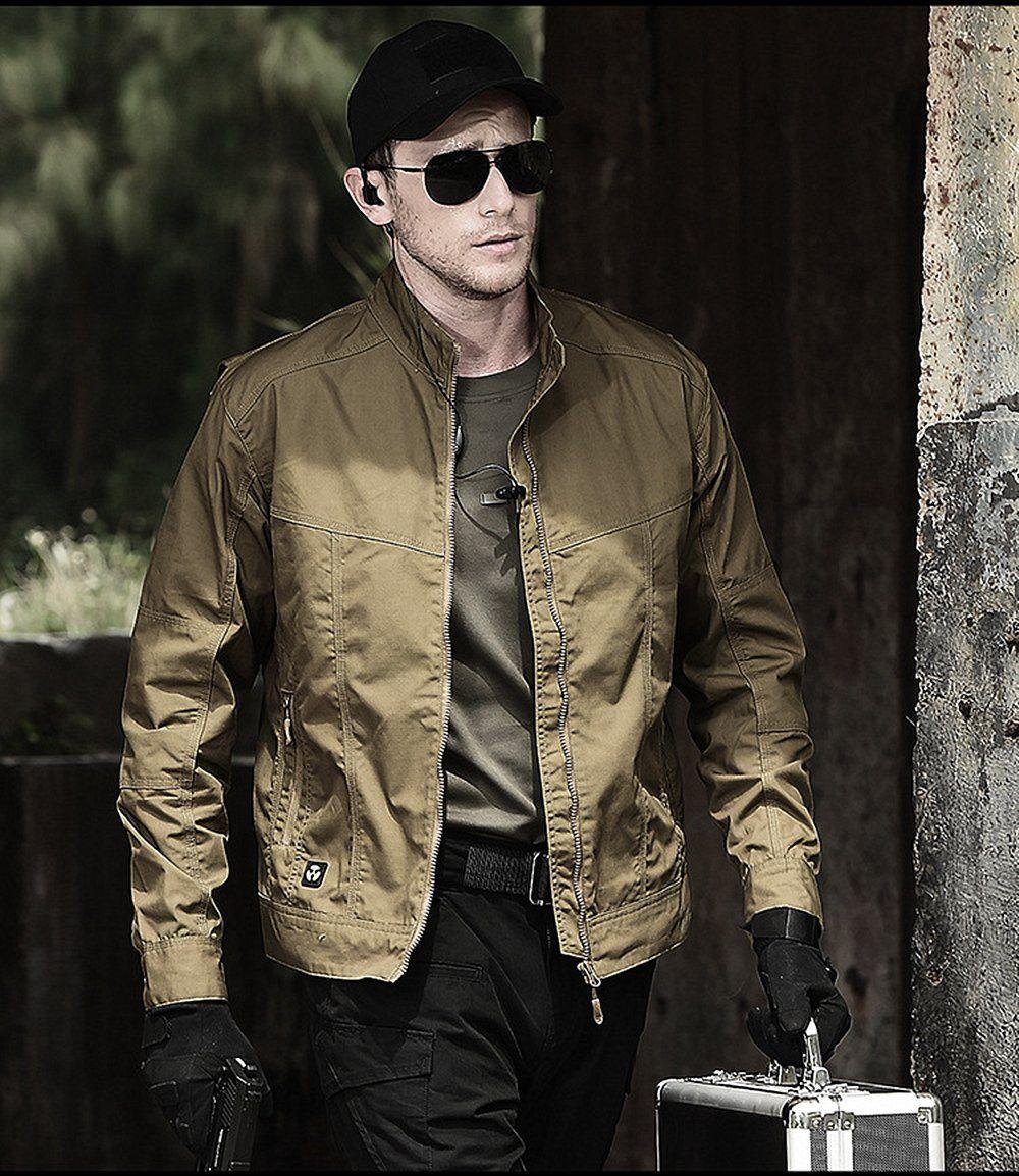 Men S Lightweight Tactical Jacket Military Style Trendy Men S Clothing Casual Coat For Men 3 Colors Mens Jackets Casual Casual Coat For Men Tactical Jacket [ 1154 x 1000 Pixel ]