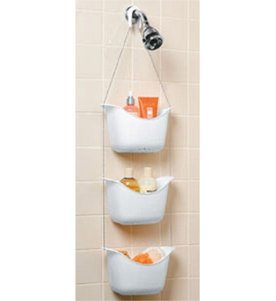 Easily store all of your shower supplies and accessories with this ...
