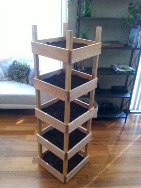 Vertikaler Blumentopf Zum Selber Bauen / Diy Vertical Planter Box ... Diy Ideen Garten Vertikaler Blumentopf