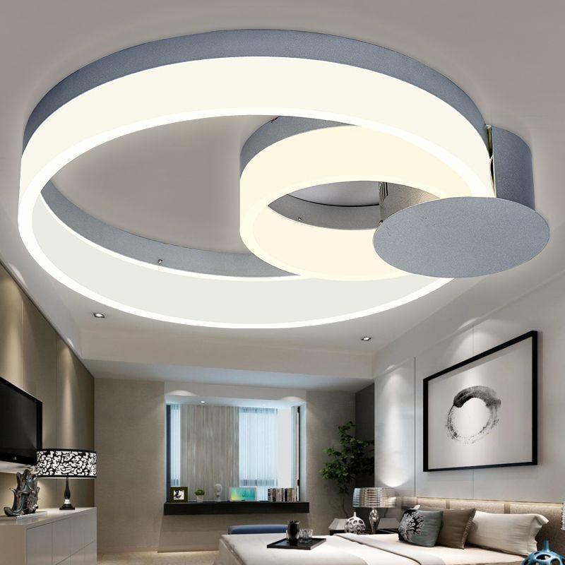 Led Modern Acrylic Ring Light Warm Air Living Room Bedroom Ceiling