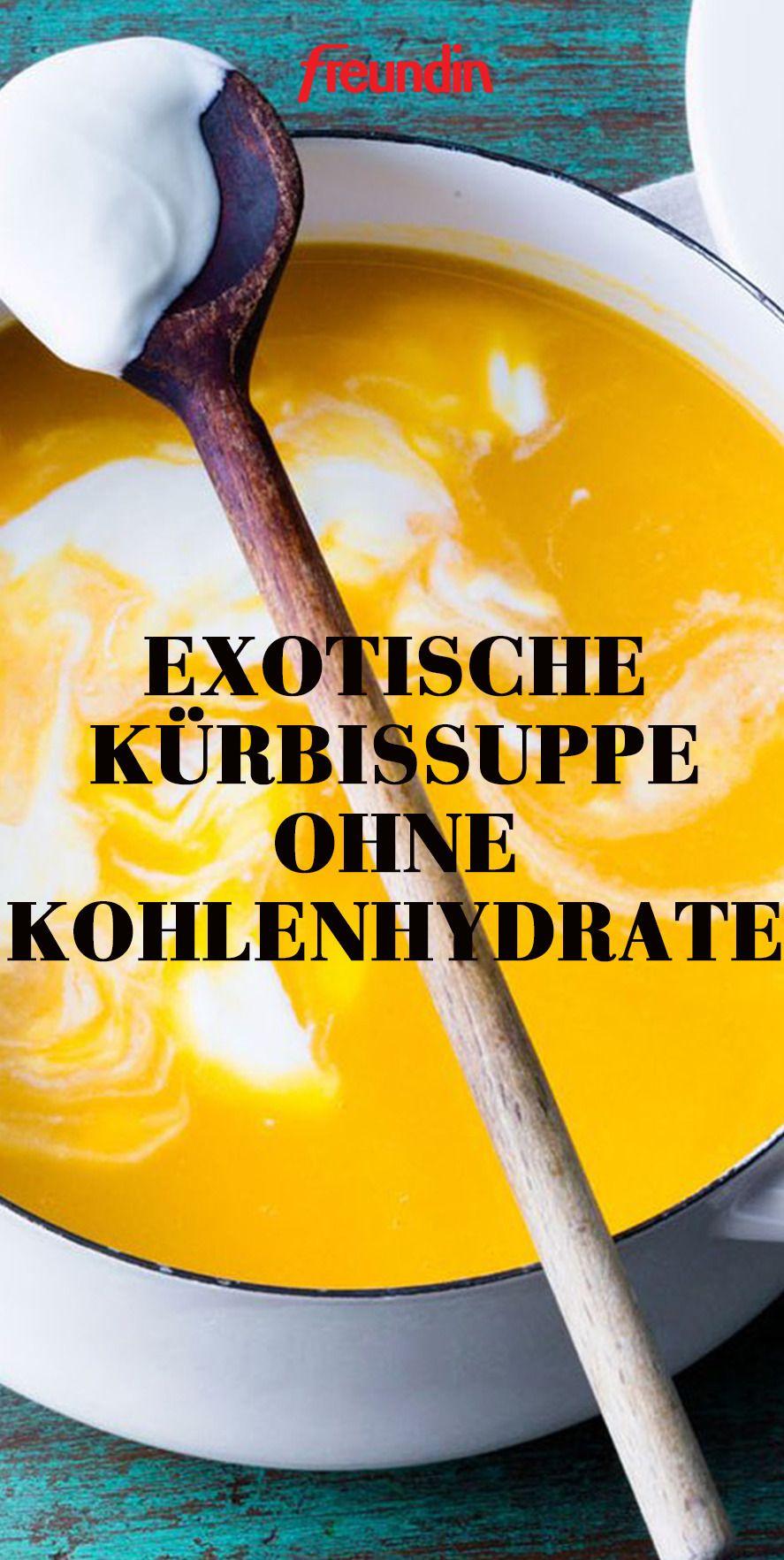 Lust auf ein leckeres Abendessen ganz ohne Kohlenhydrate Probieren Sie dieses exotische Rezept für Kürbissuppe