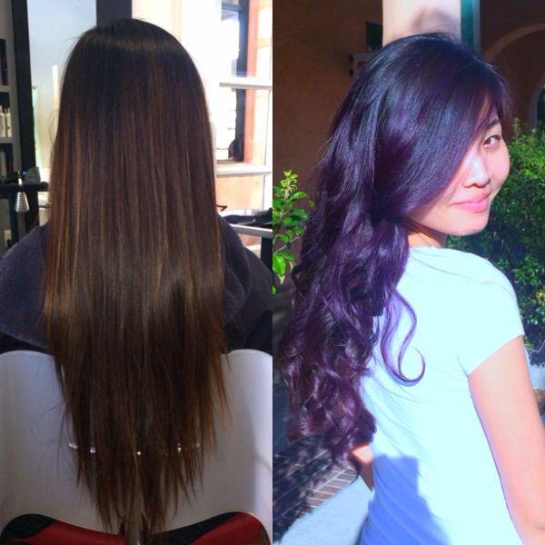 #purplehair #violet #vibranthair #haircolour #hair