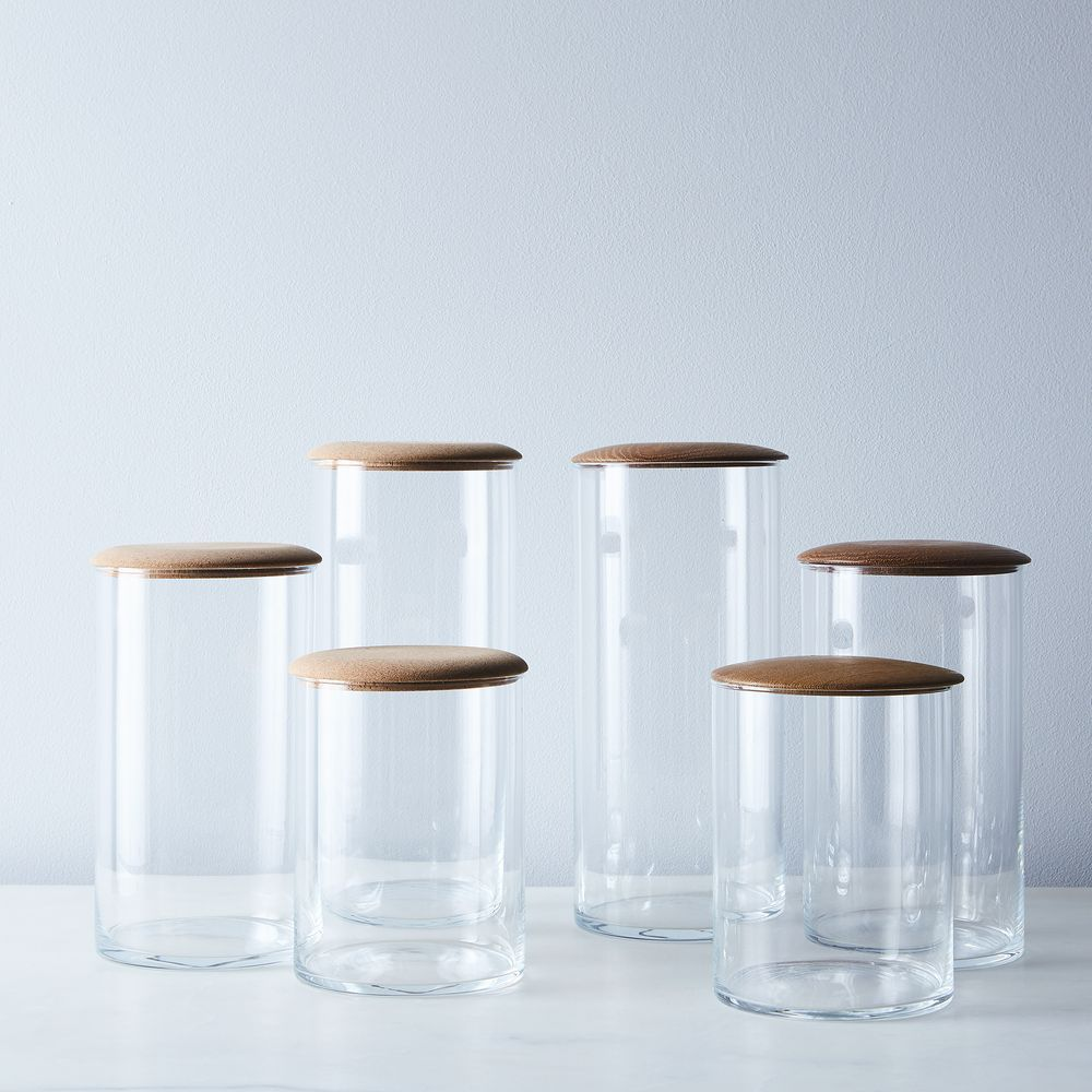 Hawkins New York Simple Storage Containers Glass Amp Wood