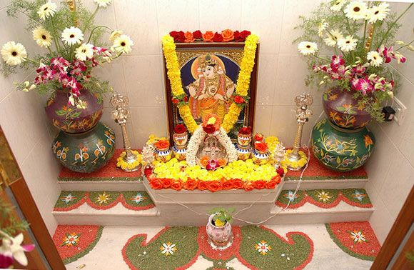 Traditional & Modern Pooja Room Designs Incorporated In