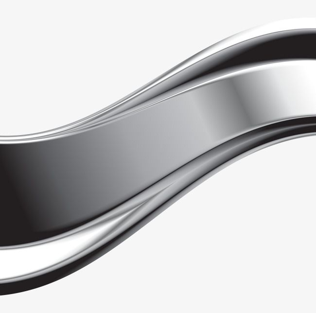 Silver Metal Curve Silvery Metal Curve Png Transparent Clipart Image And Psd File For Free Download Metallic Silver Metal Silver