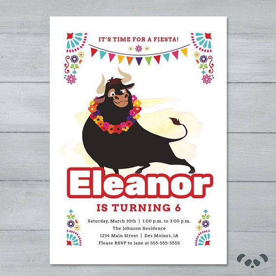 Fiesta Ferdinand Birthday Invitation Ferdinand Bull Invite - fresh birthday invitation jokes