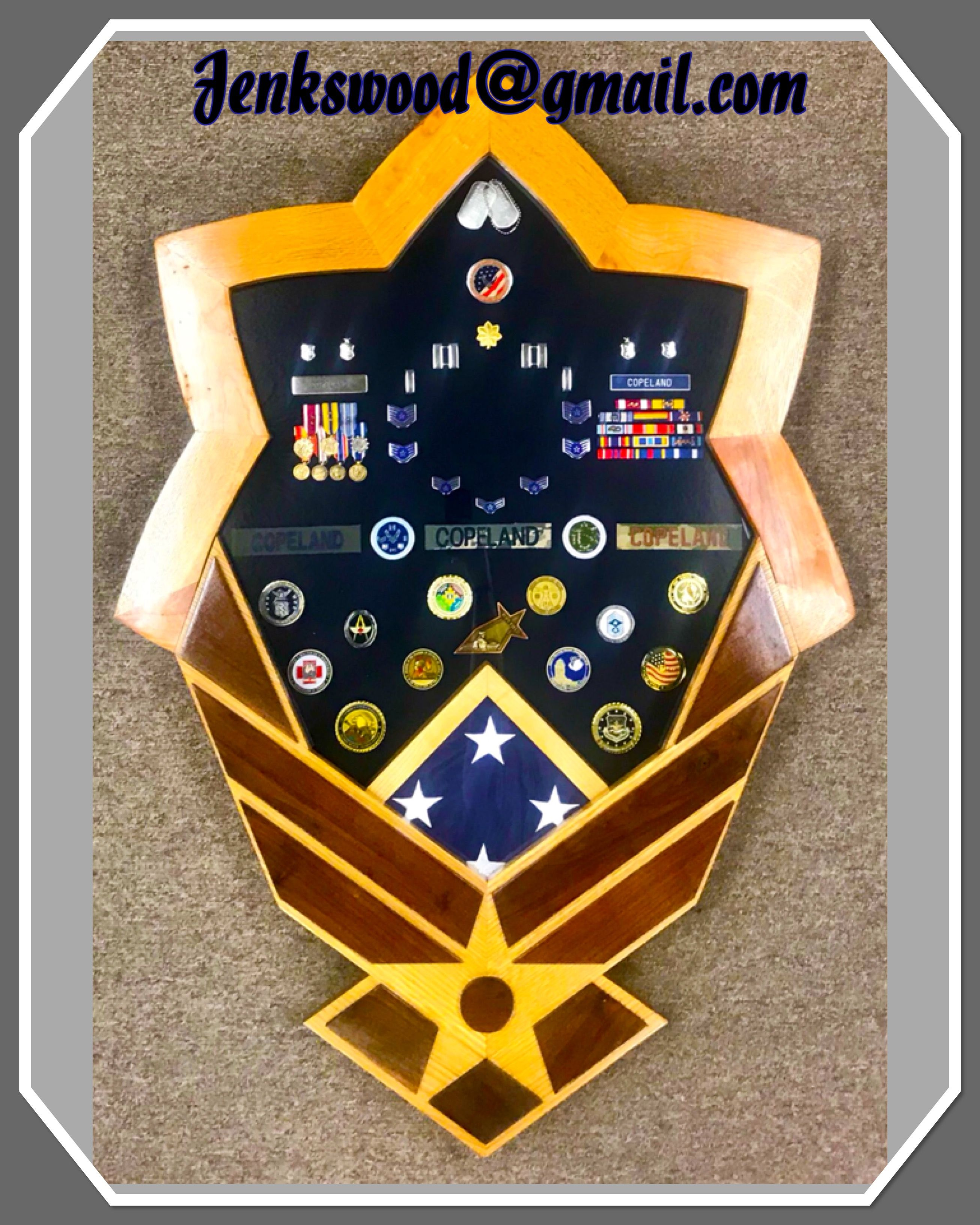 Custom Made Solid Wood Military Retirement Air Force Major Or Lt