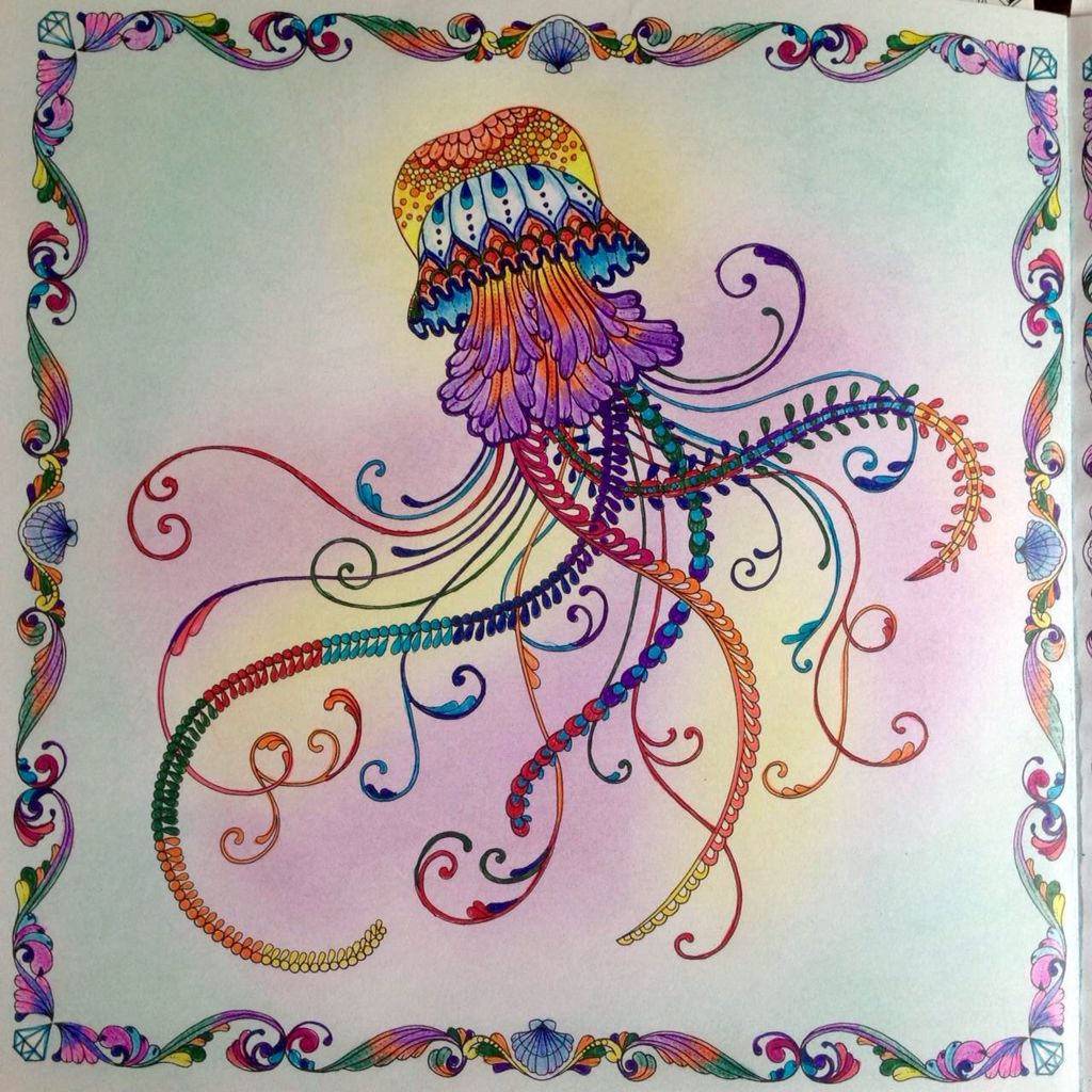 Jellyfish Lost Ocean Johanna Basford Lost Ocean Coloring Book Johanna Basford Lost Ocean Lost Ocean