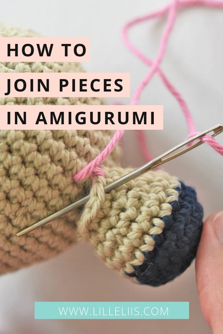How to join amigurumi pieces #amigurumicrochet