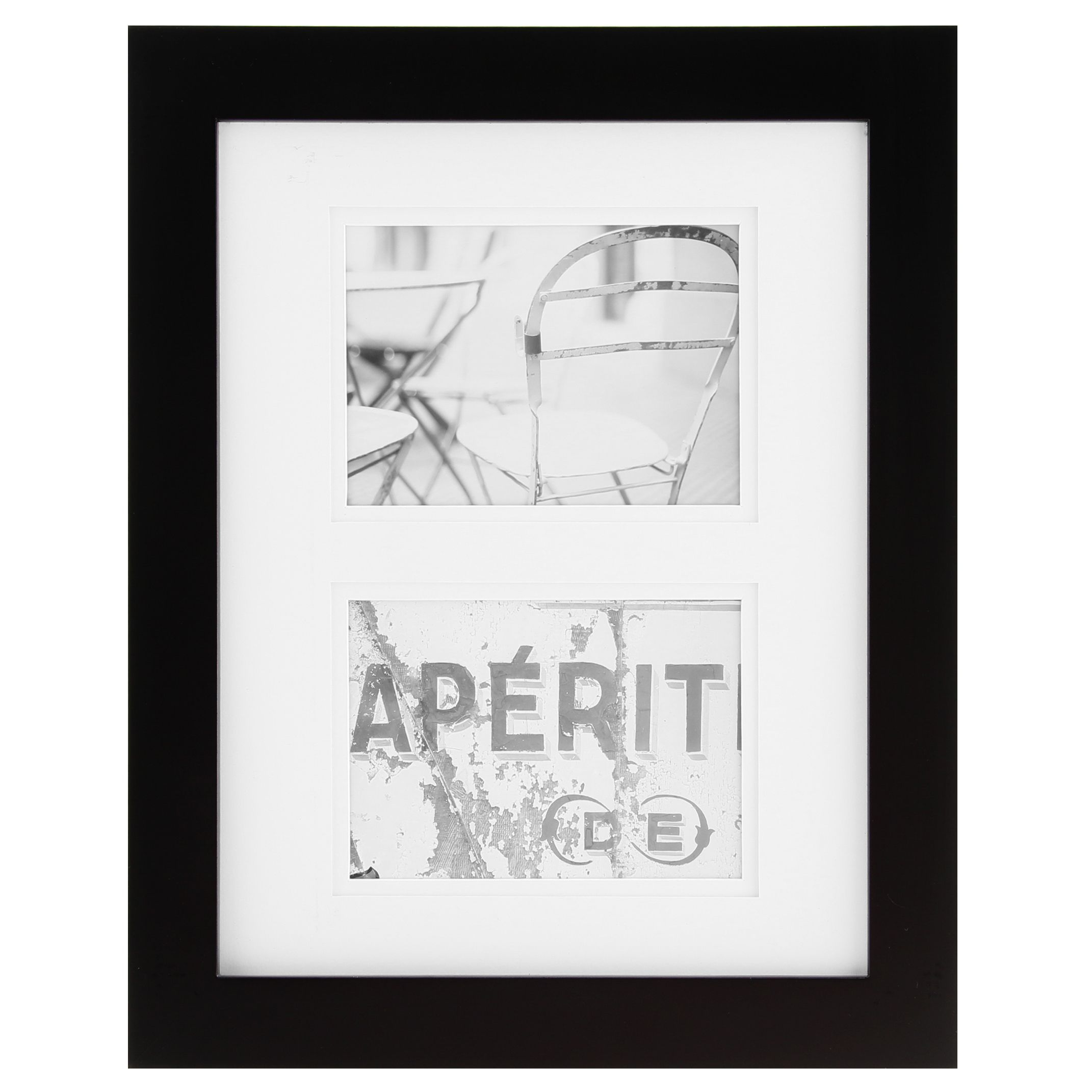 Gallery Solutions Black Wood Matted Frame (11x14/5x7) | Black wood ...
