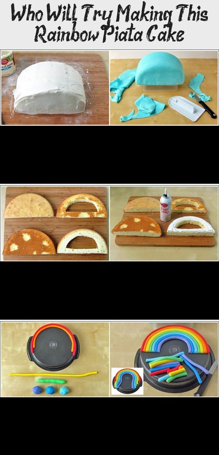 Photo of Who Will Try Making This Rainbow Piñata Cake? #PinataKuchenRezept #PinataKuchen…