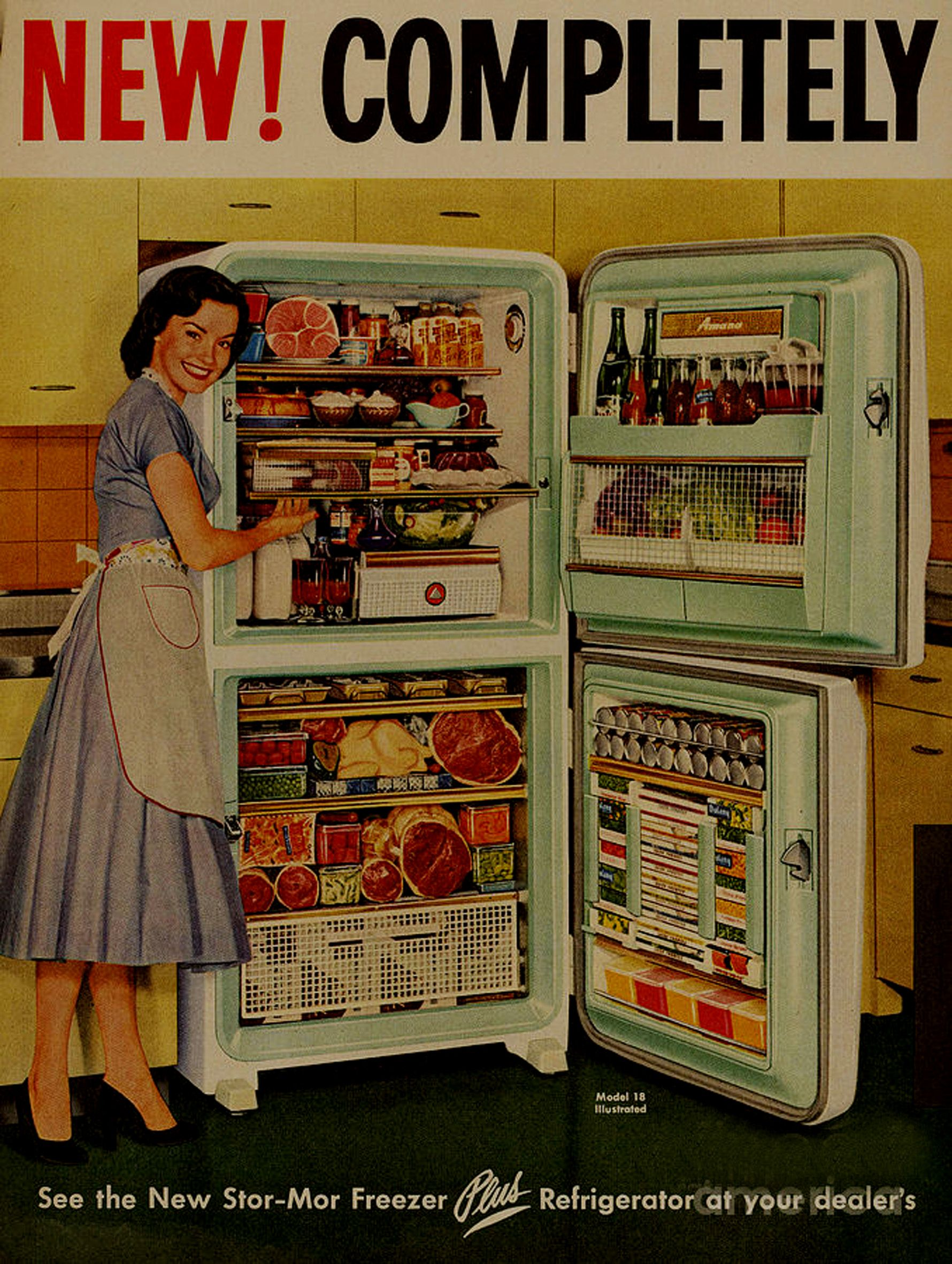 Store More Freezer Poster Public Domain Vintage And Retro Photographs Drawings Il Rations And Posters