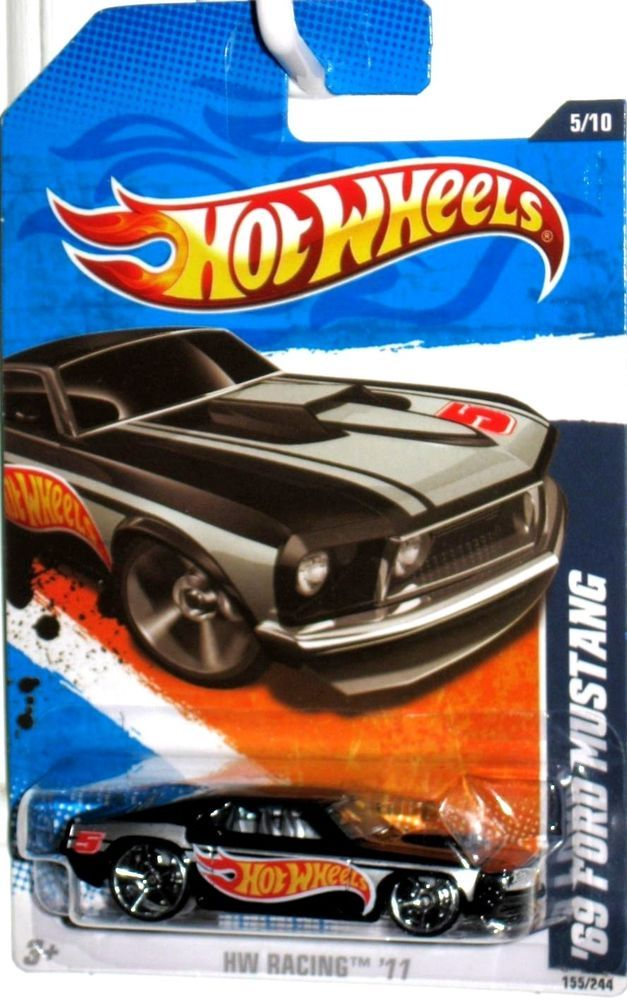 1969 Ford Mustang 2010 Hot Wheels Racing 5 10 Black Version Mint Condition Hotwheels Ford Hot Wheels Toys Mattel Hot Wheels Hot Wheels Mustang