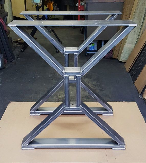 Moderno mesa comedor x las piernas piernas pesadas de por for Caballetes metalicos