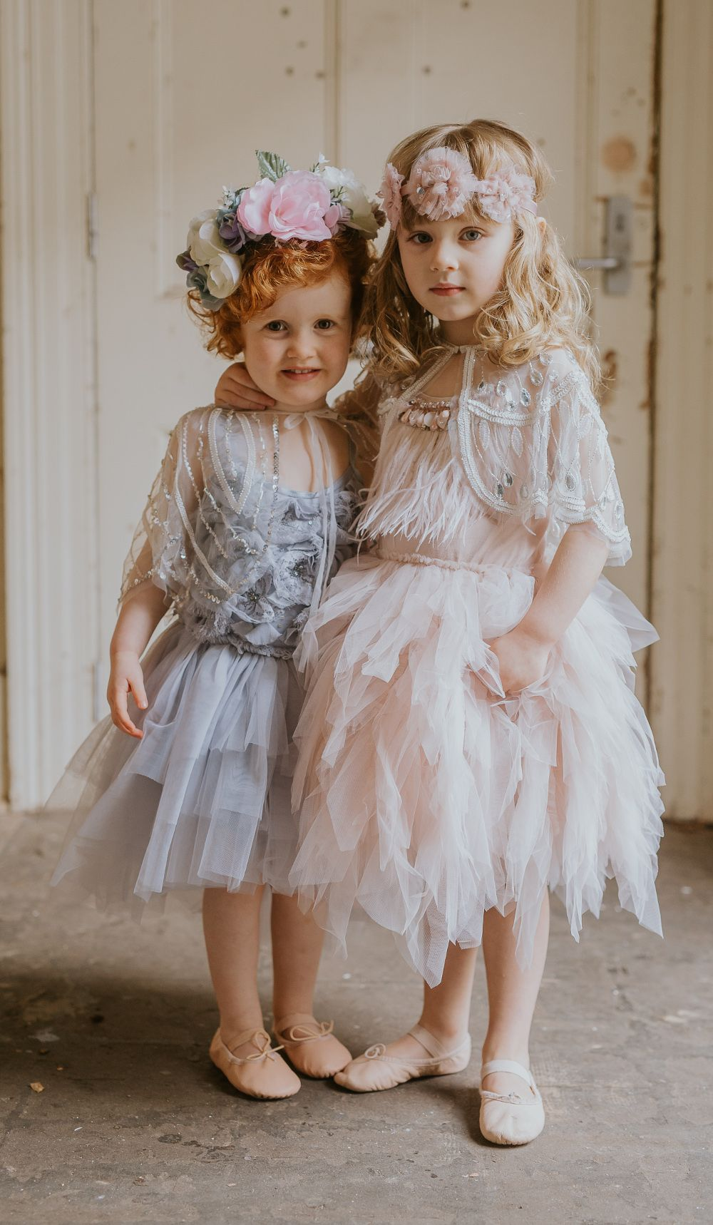 Rent designer wedding dress  Have some fun and mix and match your flower girl outfits at your
