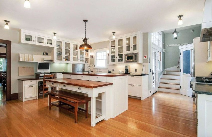 Beautiful Kitchen Islands With Bench Seating