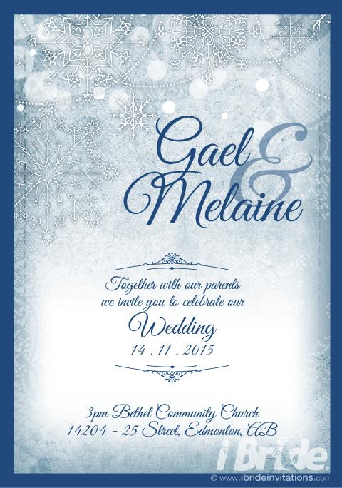 Winter theme wedding invitation ibrideinvitations winter theme wedding invitation ibrideinvitations solutioingenieria Images