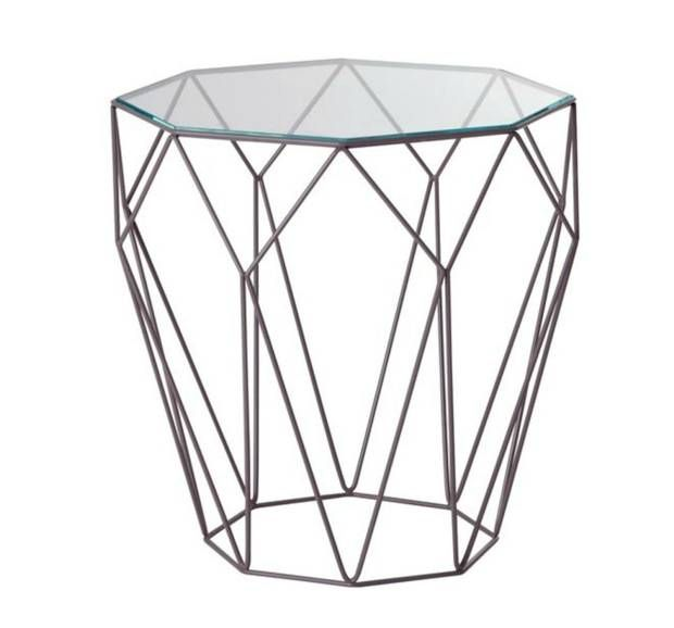 Get wired with geometric side tables   Coloured glass, Traditional ...