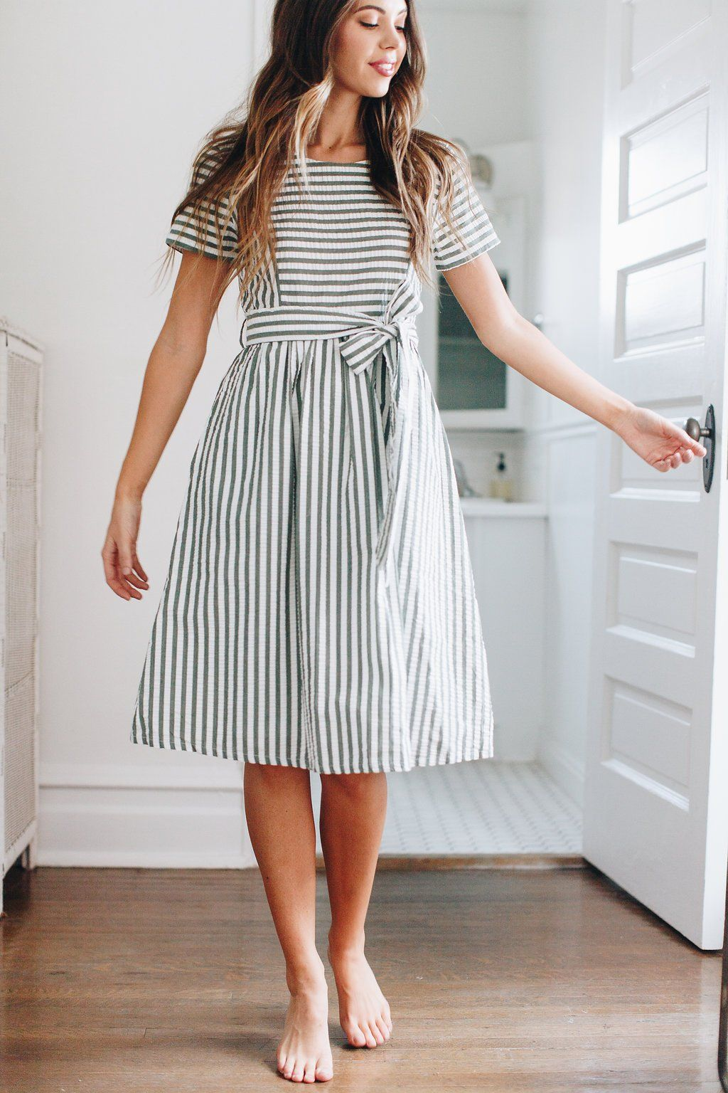 8099faf7229 Winter Pine Striped Dress – Luca Grae