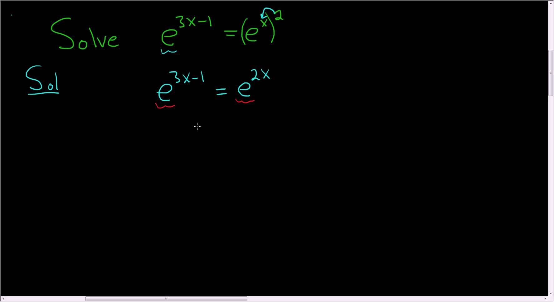 Solving The Exponential Equation E 3x