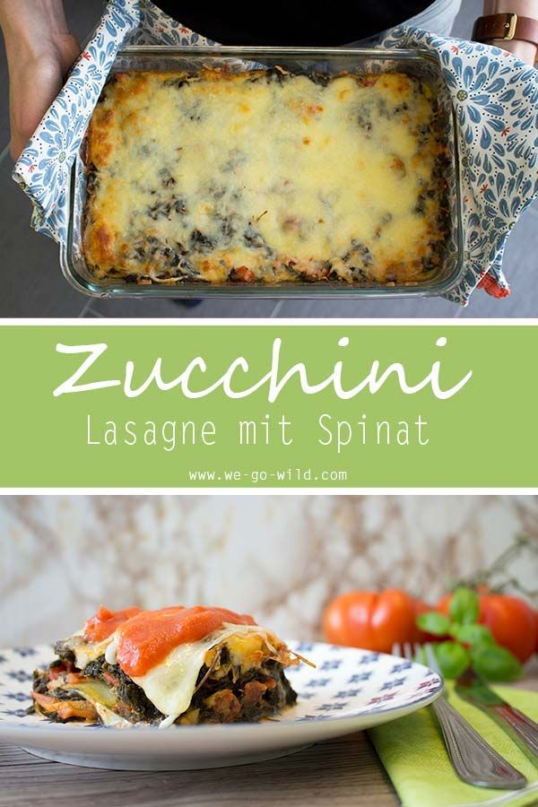 Photo of Low carb zucchini lasagna vegetarian: With spinach and mozzarella